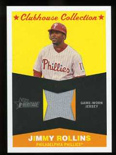 2009 Topps Heritage High Numbers Clubhouse Collection Jimmy Rollins