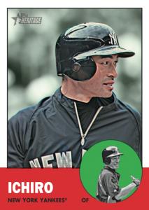 2012 Topps Heritage Ichiro In Yankees Uniform