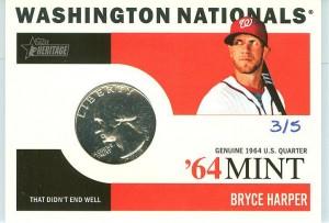 2013 Topps Heritage '64 Mint Bryce Harper