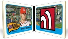 2014 Topps Heritage Bryce Harper Book Patch Card