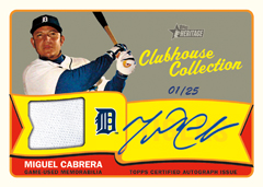 2014 Topps Heritage Clubhouse Collection Auto Miguel Cabrera