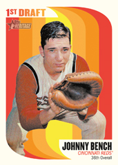 2014 Topps Heritage First Draft Johnny Bench