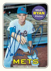 2018 Topps Heritage Real One Autograph Nolan Ryan